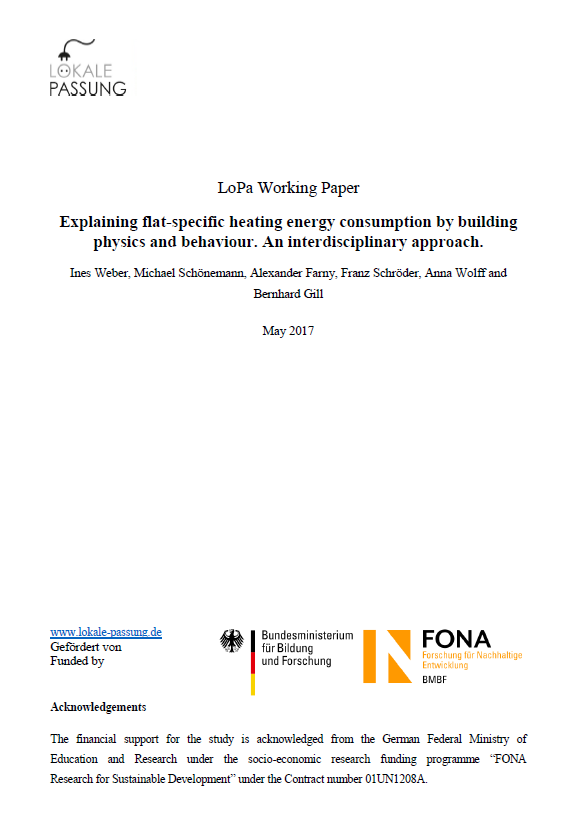 Working Paper flat specific heating demand